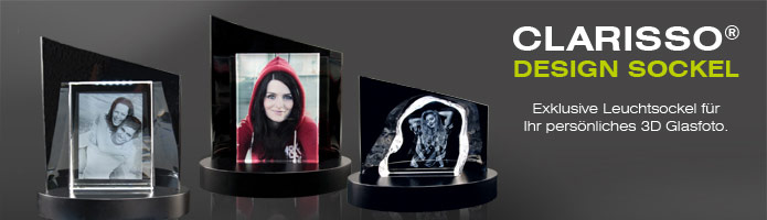 Clarisso led sockel mit 3d glasfoto personalisiertes for Wohndesign 3d
