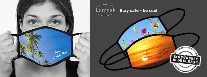 Mund-Nasen-Maske personalisiert