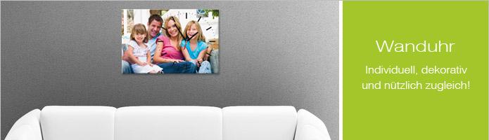 fotouhren selbst gestalten mit lieblingsfoto contento. Black Bedroom Furniture Sets. Home Design Ideas