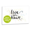 Acrylglasscheibe für Lightbox LIVE YOUR DREAM 30x20 cm