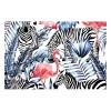 Vinyl Teppich MATTEO 60x90 cm Flamingo & Zebra