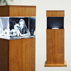 Leuchtstele Holz S quer für 90x60x60 quer