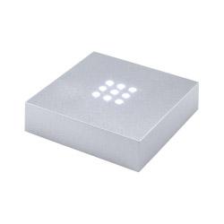 Leuchtsockel silberfarben mit weißen LEDs