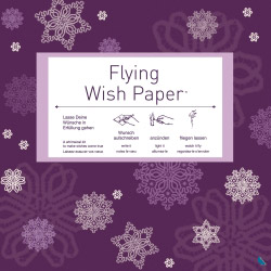 Contento flying wish paper purple