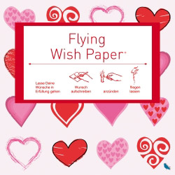 Flying Wishpaper Mini hearts