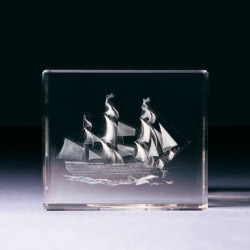 Glasblock - Segelschiff - Victory