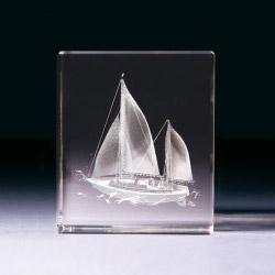 Glasblock - Segelyacht