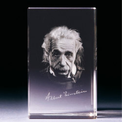 Glasblock - Albert Einstein