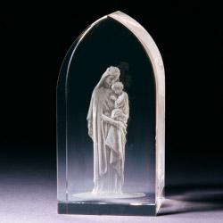 Glasblock - Maria mit Kind