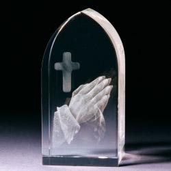 Glasblock - Betende Hände