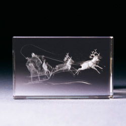 Glasblock - Weihnachtsmann