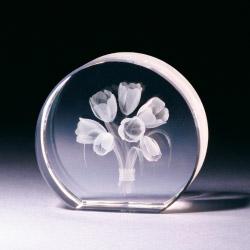 Glasblock - Tulpenstrauss