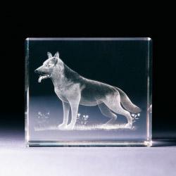 Glasblock - Schäferhund