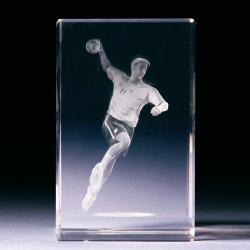 Glasblock - Handballspieler