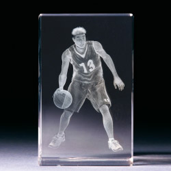Glasblock - Basketballspieler