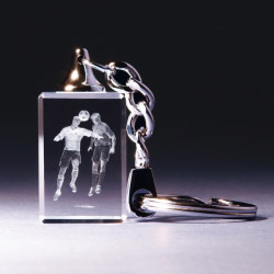 Schlüsselanhänger - Fussball Kopfballduell