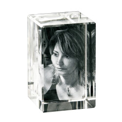 Foto in 3D Portrait-Glasblock - max. 2 Personen