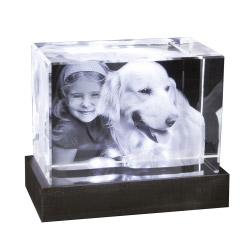 Foto in 3D Portrait - Glasblock