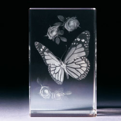 Glasblock - Schmetterling