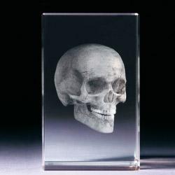 Glasblock - Totenkopf
