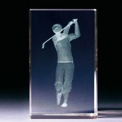 Glasblock - Golfer klassisch