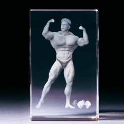 Glasblock - Bodybuilding man