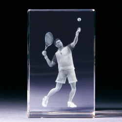 Glasblock - Tennisspieler