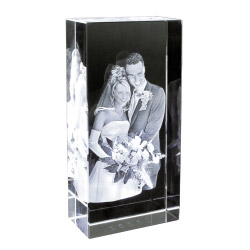 3D Foto im Studio Glasblock