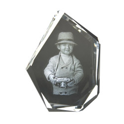 3D Glasfoto DIAMOND L 1-4 Personen