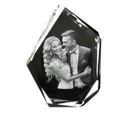 3D Glasfoto DIAMOND XL 1-6 Personen