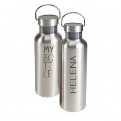 ToGo Trinkflasche S personalisiert - Textgravur +