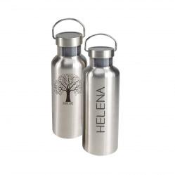 ToGo Trinkflasche S personalisiert - Textgravur + Motiv Baum
