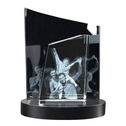 3D Glasfoto TOWER L + Clarisso® Sockel - SET