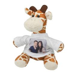 Stofftier - Giraffe mit Foto