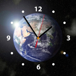 Wanduhr My Clock - Weltkugel