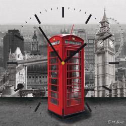 Wanduhr quadratisch - London