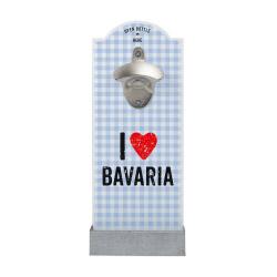 Wand-Flaschenöffner I LOVE BAVARIA