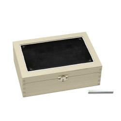 Teebox mit Kreidetafelfunktion