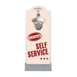 Wand-Flaschenöffner SELF SERVICE