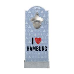 Wand-Flaschenöffner I LOVE HAMBURG