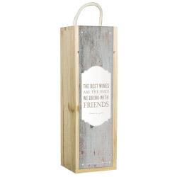 Weinbox grau mit Spruch