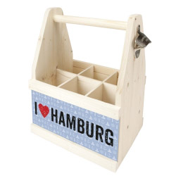 Beer Caddy I LOVE HAMBURG