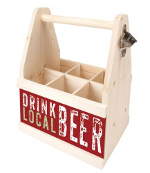 Beer Caddy DRINK LOCAL BEER