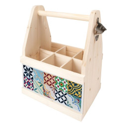 Beer Caddy MOSAIK BUNT