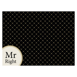 Tischset Vinyl MR RIGHT