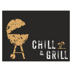 Tischset Vinyl CHILL & GRILL