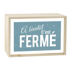 Lightbox FERME 30x20 cm
