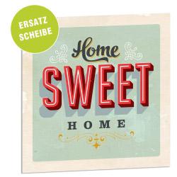 Acrylglasscheibe für Lightbox HOME SWEET HOME 25x25 cm