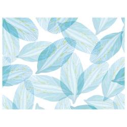 Tischset Vinyl Blue Leaves