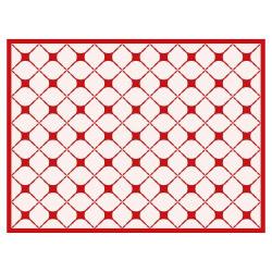Tischset Vinyl Pattern Rot 1